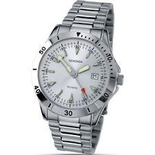 Sekonda reloj de hombre con plata dial y fecha Función 3278