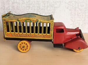 "Vintage Wyandotte Circus Truck Pressed steel toy truck  10.5"""