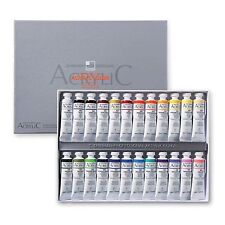 Acrylic Color Paint Set Shinhan Professional 24 Colors 20ml Tube, Artist Drawing