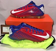 NIKE MENS SIZE 15 VAPOR CARBON ELITE 2.0 TD FLYWIRE FOOTBALL CLEATS RED BLUE
