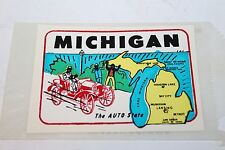 VINTAGE MICHIGAN (THE AUTO STATE) TRAVEL DECAL