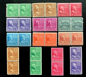 US Stamps SC#839-851 Presidential Series Coil Pairs Complete Set  CV:$75