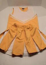 Alleson Cheerleader Uniform Adult Small Gold/White