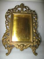 French Standing Brass picture frame Ornate Cherub Angel 12x8