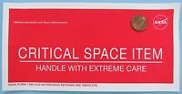 """NASA STICKER vtg CRITICAL SPACE ITEM - Handle With Extreme Care - 8"""""""