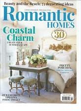 ROMANTIC HOMES MAGAZINE JULY 2017.COASTAL CHARM