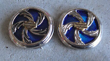 Lot of 2 Franklin Mint Harley Davidson Cycles Pocket Watch Sample Lid Covers #2