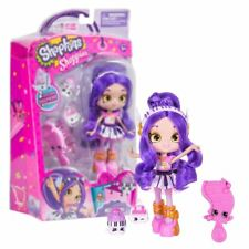 New Shopkins Shoppies Melodine Doll w/ 2 Figures & Brush Official