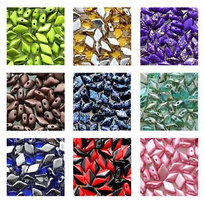 Matubo Gemduo™ Pressed Beads 8x5mm Czech Ornela Glass 8g Tube Various Colors