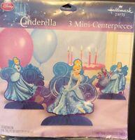 Disney Cinderella Princess Mini Centerpiece Hallmark Set Of 3 Party Decoration