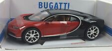 NUOVO BBURAGO Bugatti Chiron 1:18 Modellino Auto Diecast in rosso e nero
