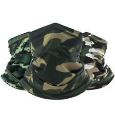 Camouflage UV Protection Face Mask Scarf Neck Gaiter Seamless Headwear Bandana