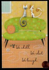 Hallmark Cats Kittens Sofa Mouse Ball Yarn - Glittered Birthday Greeting Card