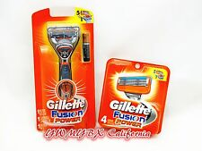 Gillette fusion Razor Power blades 5 Cartridges+1 Razor+1 Battery,Brand New