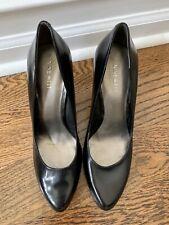 Nine West Black Leather Rocha High Heel Pumps Shoes 10 New