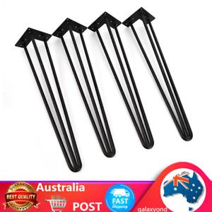3 Rod Industrial Retro Hairpin Table Legs 60cm Steel Bench Desk Leg 4 Set New