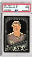 2018 Topps Allen & Ginter #207 X Black Parallel RONALD ACUNA Rookie PSA MINT 9