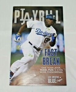 2014 Los Angeles Dodgers PLAYBILL Yasiel Puig