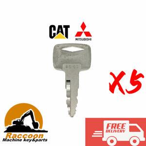 5pcs Mitsubishi and caterpillar Forklift Starter Ignition Keys A5160 91A07-01910