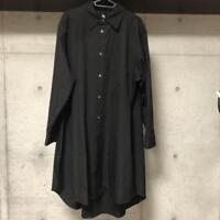 GROUND Y YOHJI YAMAMOTO LONG BUTTON DOWN SHIRT FRONT ONE SIZE RARE FROM JAPAN