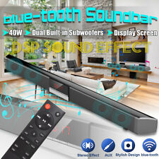 40W DSP blue-tooth TV Sound Bar Home Theater Soundbar Dual Subwoofers W/  ⇠ d