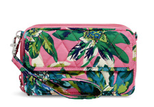 Vera Bradley All In One Crossbody Wristlet Iphone Tropical Paradise 15863 $68
