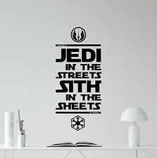 Star Wars Wall Decal Jedi Quote Sith Movie Vinyl Sticker Art Decor Mural 167crt