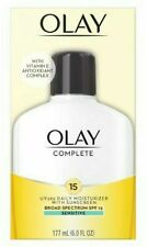 OLAY COMPLETE DAILY MOISTURIZER *SENSITIVE* 6-OZ UV365  *WITH SPF15