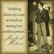 SHERLOCK HOLMES QUOTE: VINTAGE RETRO HANGING METAL SIGN:HOME HOME DECOR GIFT 1