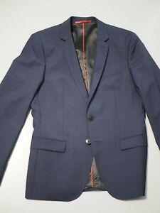 Cooles HUGO Sakko in blau mit Fensterkaros, Modell Arti, slim fit, Gr. 48,
