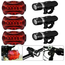3 Set Waterproof 5 LED Lamp Bike Bicycle Front Head Light+Rear Safety Flashlight