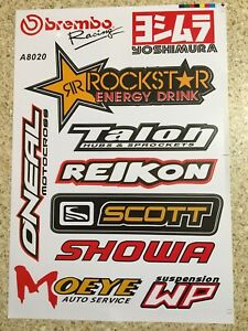 BREMBO 2 Pack Stickers Decals Graphics Sheets Mx Motorcross Motocross
