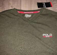 NWT Mens Sz S Ralph Lauren Polo Sport Short Sleeve V Neck Athletic Shirt   39.50 625b62ec2