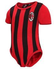 Body Neonato a Righe Rosso Nero Abbigliamento Ufficiale Ac. Milan PS 12685