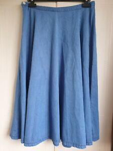 Vintage Laura Ashley Denim Skirt - Waist 32 in