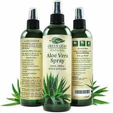 Green Leaf Naturals Organic Aloe Vera Gel Spray for Skin, Hair, Face, After Sun