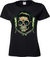 Frauen T Shirt schwarz US Car Rockabilly Greaser&`50 Stylemotiv Greaser Blades