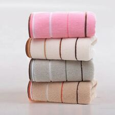 4Pcs Striped cotton towel Deluxe comfortable towel hand thick towel Random