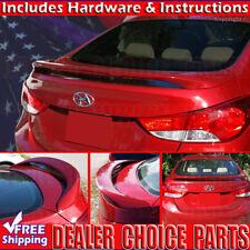 Fits 2011-2016 Elantra 4D Sedan Factory Style Spoiler Trunk Wing w/LED PRIMER