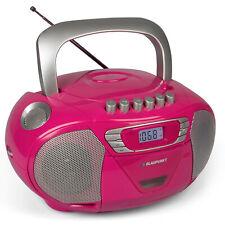 Blaupunkt CD Player tragbar Kinder Radio Kassetten Boombox Stereoanlage UKW pink