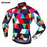 Men Cycling Jersey Long Sleeve MTB Road Bike Tops Quick Dry Shirt Colorful S-XXL