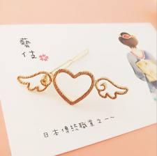 Girl Metal Angle Wings Love Heart Barrette Clips Side Hairpins Hair Accessories