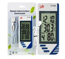 DIGITAL LCD THERMOMETER HYGROMETER HYDROPONICS GROW ROOM THERMOMETER PLANTS NEW