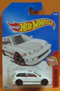 2017 HOT WHEELS 90 HONDA CIVIC EF (WHITE) LONG CARD (THEN AND NOW)