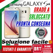 SMARTPHONE SAMSUNG GALAXY S6 G920 32GB !4G! BIANCO G920F RICONDIZIONATO GRADO A!