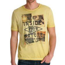 T-shirt uomo MARLBORO CLASSICS cotone arancio/mattone Giallo manica corta MCS07