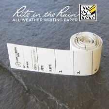 5 x *NEW* GEOLoggers MICRO 1.5cm Geocaching Log Sheet Rite in the Rain White