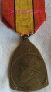 DEC4730 - MEDAILLE COMMEMORATIVE 1914-1918 - BELGIQUE
