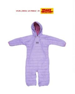 PATAGONIA INFANT HI-LOFT DOWN BUNTING SWEATER SIZE 12M LIGHT PURPLE ONE PIECE