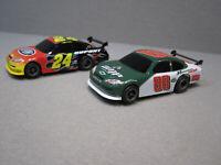 ☆☆ Lot of 2 Vintage HO Scale NASCAR Slot Cars - #88 Earnhardt Jr & #24 Gordon ☆☆